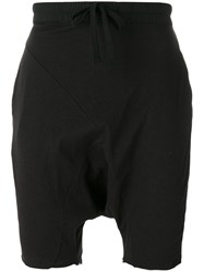 Thom Krom Drop Crotch Track Shorts Black