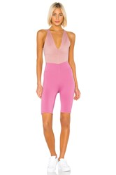 Free People Movement Total Triumph One Piece Pink