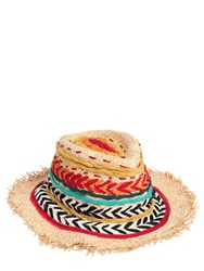 Etro Fringed Embroidered Straw Hat