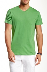Report Collection Cotton V Neck Tee Green