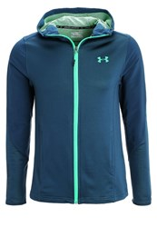 Under Armour Grid Tracksuit Top Teal Black