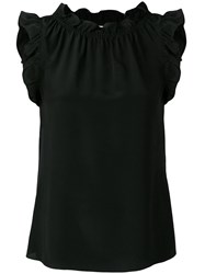 Goat Willow Frilled Tank Top Black