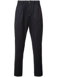 A Kind Of Guise Elasticated Waistband Tapered Trousers Black
