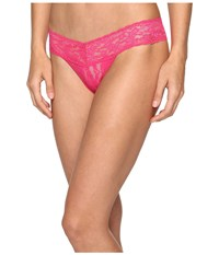 Hanky Panky Petite Signature Lace Low Rise Thong Tickled Pink Women's Underwear