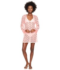 Letarte Lace Tunic Cover Up Pink Coral Women's Swimwear