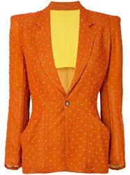 Jean Paul Gaultier Vintage Polka Dot Pattern Blazer Yellow And Orange