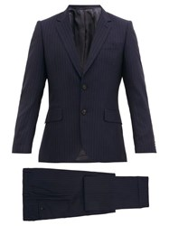 Paul Smith Pinstriped Wool Suit Navy