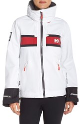Women's Helly Hansen 'Salt' Waterproof Hooded Jacket White