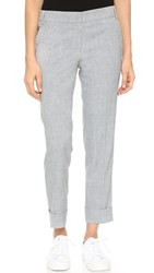 James Jeans Slouchy Cuffed Trousers Light Heather Grey
