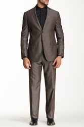 John Varvatos Hampton Suit Brown