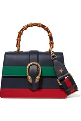 Gucci Dionysus Bamboo Medium Leather Tote Navy