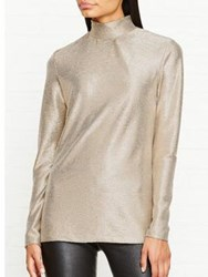 Paul Smith Ps By Metallic High Neck Top Gold