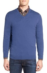 Nordstrom Men's Big And Tall V Neck Sweater Blue Marine Heather