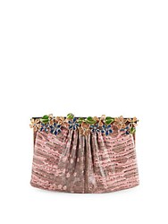 Valentino Embossed Leather Handbag Pink