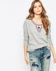 Denim And Supply Ralph Lauren Denim And Supply By Ralph Lauren Beaded Sweatshirt Vintage Grey He Multi