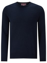 John Lewis Made In Italy Merino Wool Crew Neck Jumper Navy