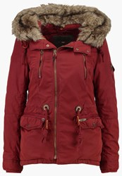 Khujo Dyani Parka Brick Red Dark Red