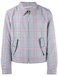 Thom Browne Checked Jacket Red