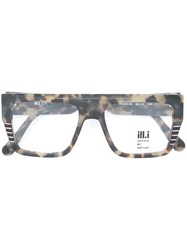Ill.I.Am Square Frame Glasses Nude And Neutrals