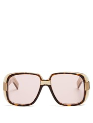 Gucci Square Frame Acetate Sunglasses Brown