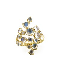 Paul Morelli Moonstone And White Diamond Bubble Cluster Ring