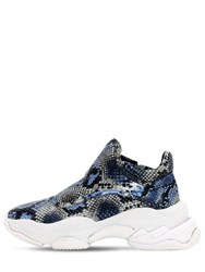 Jeffrey Campbell 40Mm Python Print Leather Sneakers Multi