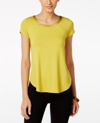 Alfani High Low T Shirt Luxe Lime