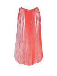 Stella Mccartney Sloane Pleated Crepe Top Red White