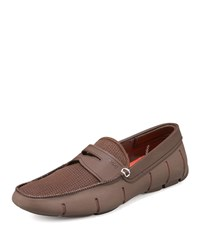 Swims Rubber Penny Loafer Brown