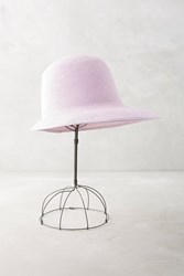 Anthropologie Duo Nyc Pastel Straw Hat Lilac