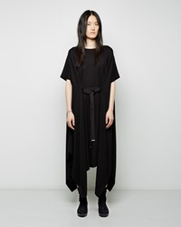 Maison Margiela Line 1 Jersey Handkerchief Hem Dress Black