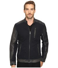 Lucky Brand Cotton Leather Jacket Black Men's Coat