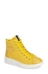 Ecco Women's Soft 3 High Top Sneaker Melon Leather
