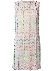 Missoni Knitted Shift Dress Metallic