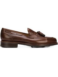 Bow Tie 'Anderson' Loafers Brown