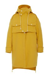 Rosie Assoulin Water Resistant Convertible Paddington Jacket Yellow