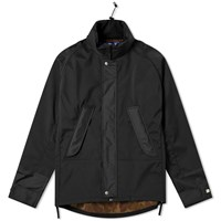 Junya Watanabe Man Camo Arm Patch Hooded Jacket Black