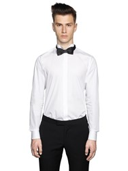 Z Zegna Cotton Poplin Wing Tip Evening Shirt