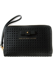 Marc By Marc Jacobs 'Sophisticato Bow Perf' Wallet Black