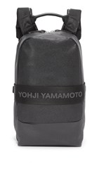 Y 3 Qasa Leather Backpack Black