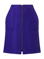 Phase Eight Dillon Wool Skirt Cobalt