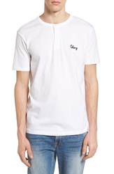 Obey Men's Assignment Henley White
