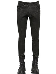 Julius Patchwork Coated Stretch Denim Pants