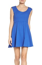 French Connection Women's Whisper Light Fit And Flare Dress Empire Blue