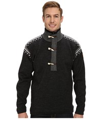 Dale Of Norway Finnskogen E Dark Charcoal Smoke Off White Sweater Black