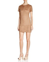 Prive Faux Suede Sheath Dress Latte