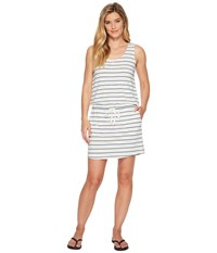 Carve Designs Aliso Dress Indigo Sun Stripe White