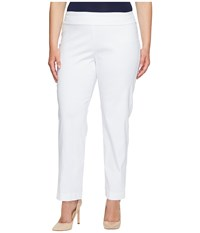 Krazy Larry Plus Size Pull On Ankle Pants White Women's Dress Pants