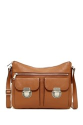 Fossil Riley Leather Hobo Crossbody Brown