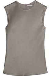Protagonist Hammered Satin Top Gray